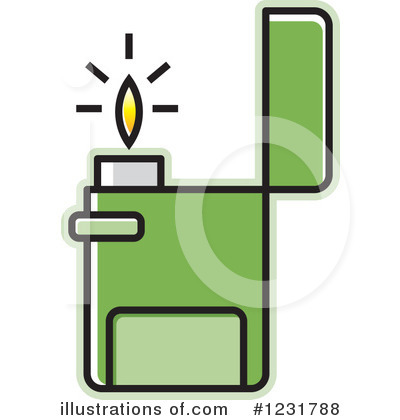 Royalty-Free (RF) Lighter Clipart Illustration #1231788 by Lal Perera