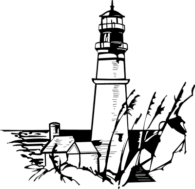 Lighthouse Clipart Black And White-Lighthouse Clipart Black And White-9