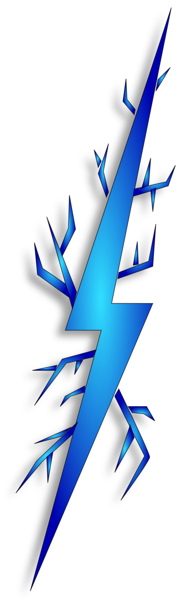 Lightning bolt image clipart .