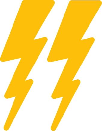 Lightning bolt lightening bolt clipart for your project clipartdeck clip arts