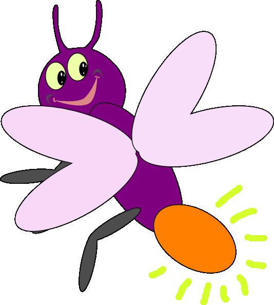 Lightning Bug Clipart. Purple Firelies 2 clip art .
