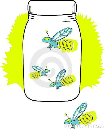Lightning Bug Jar Clip Art | Fireflies in a jar, but they have florescent bulbs