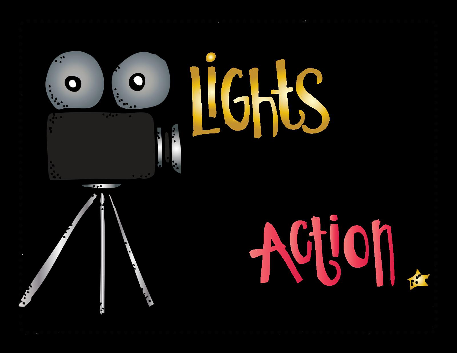 Lights Camera Action Clip Art Digital Art By Melonheadz
