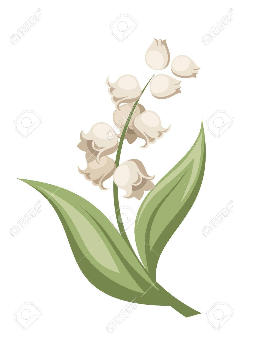 Lily of the valley flower Vector illustration Stok Fotoğraf - 27333211
