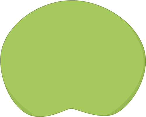 Lily Pad Clip Art Image - Large Lily Pad-Lily Pad Clip Art Image - large lily pad - this lily pad image can be edited to include text over the lily pad.-9