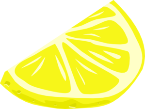 Pink lemon slice clip art vec