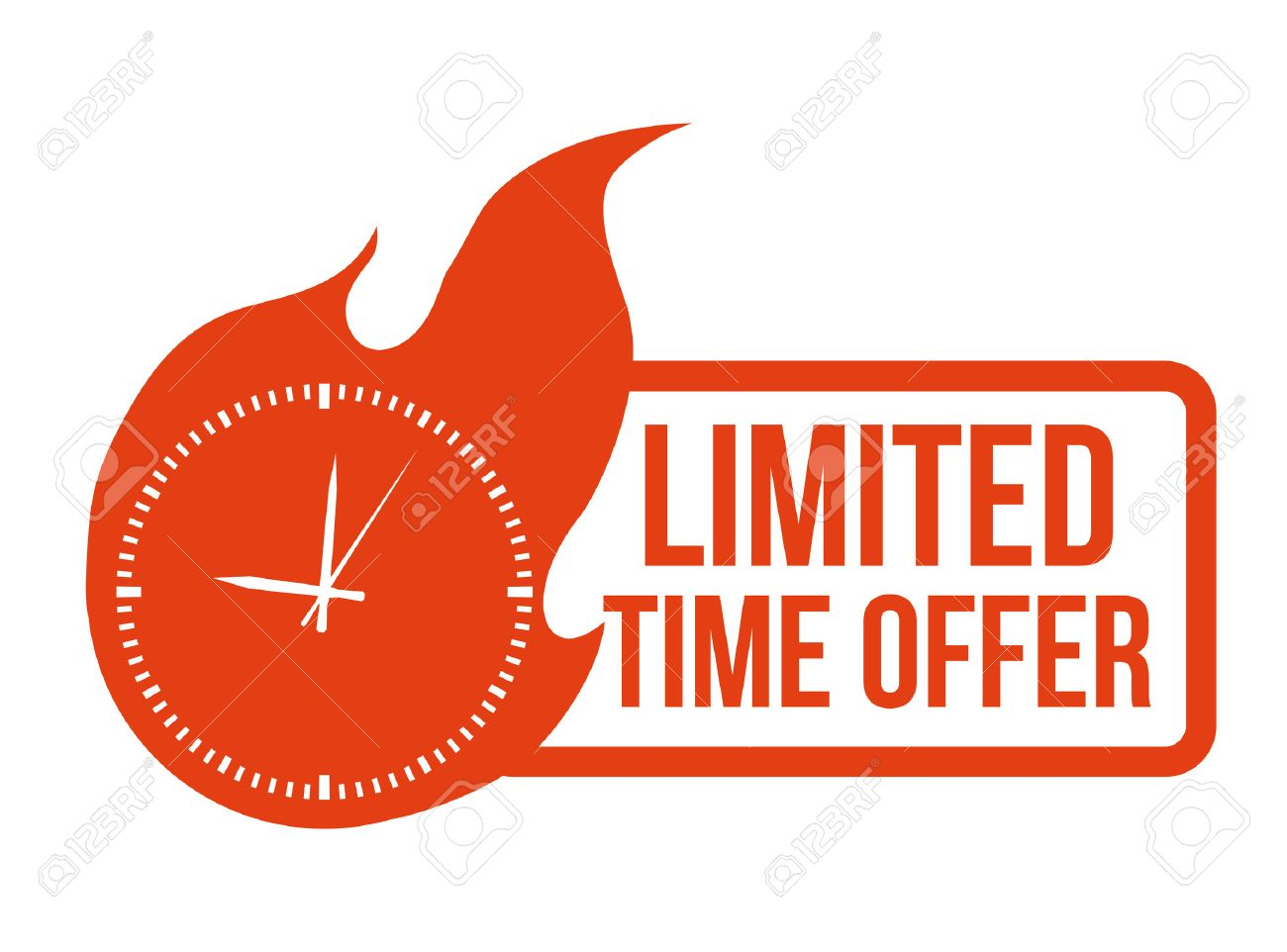 Limited Offer Clipart vector