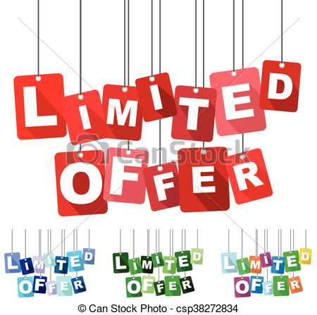 Limited Offer, Red Vector Limited Offer, Flat Vector Limited Offer,  Background Limited Offer