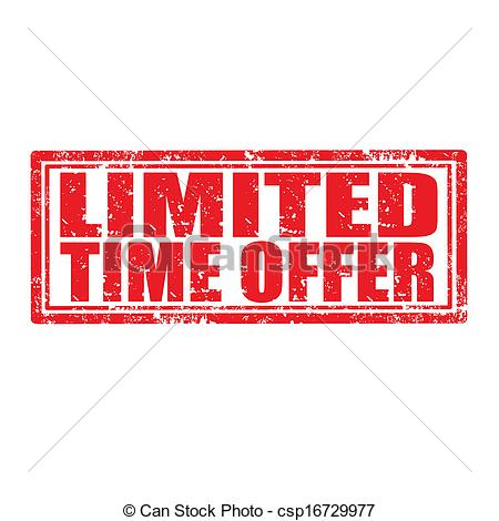 Limited Time Offer-stamp - csp16729977
