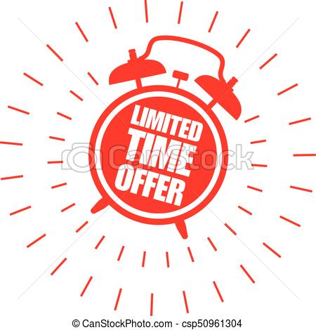 Limited time offer sticker with alarm clock - csp50961304