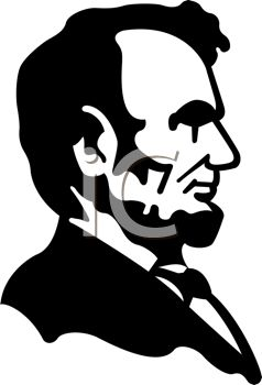 lincoln clip art - words in black and white on shirt