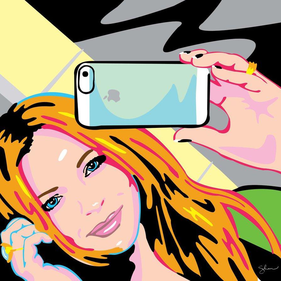 Lindsay Lohan Selfie Sham Ibrahim by shampop ClipartLook.com