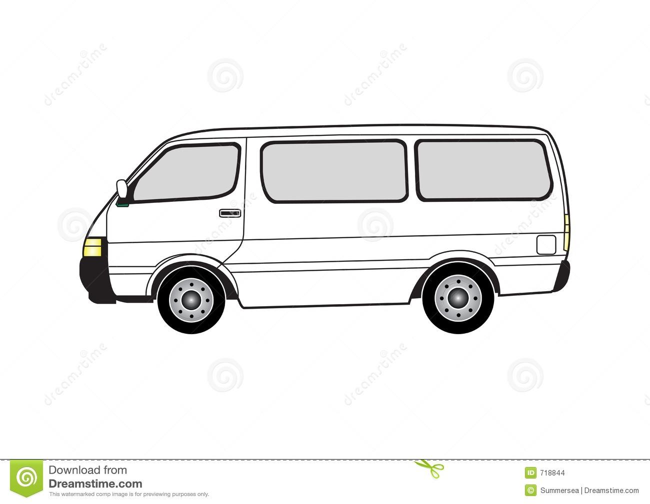 Line art - van