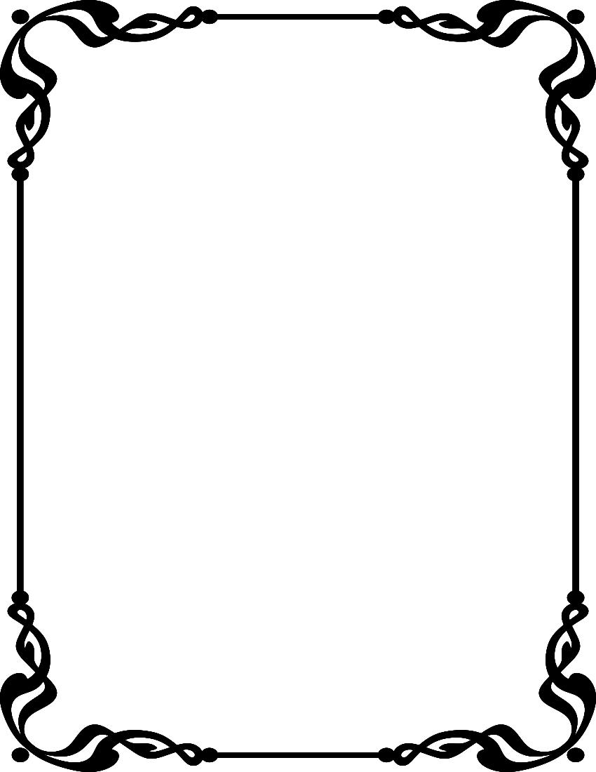 Line Borders Clip Art Line