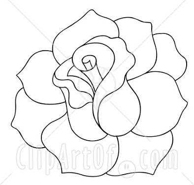 Line Drawing Of Rose - ClipAr - Line Drawing Clip Art