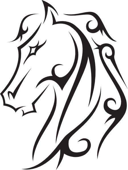 Line drawings hoeses   Horse Tattoo clip-Line drawings hoeses   Horse Tattoo clip art - vector clip art online, royalty free public .-1