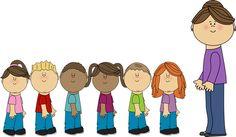 Class Line Clipart. Preschool