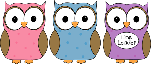 Line Leader Clip Art Owl Classroom Line Leader Vector Image