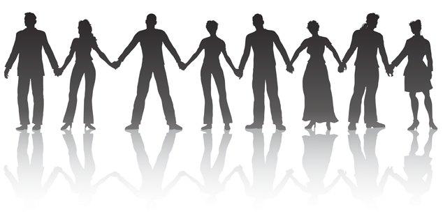 Line People Holding Hands-Line People Holding Hands-8