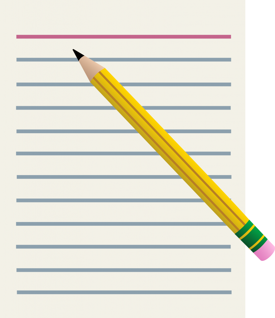 Lined Paper And Yellow Pencil - Pencil And Paper Clipart