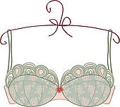 Lingerie u0026middot; Vintage bra on white background