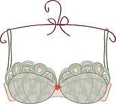 Lingerie u0026middot; Vintage bra on white background