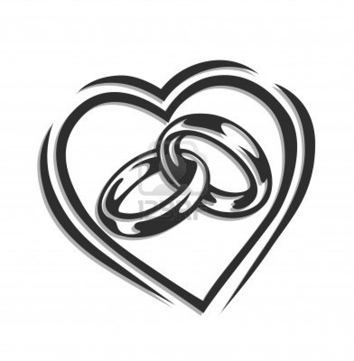linked wedding rings clipart-linked wedding rings clipart-5