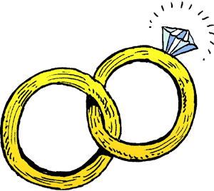 linked wedding rings clipart-linked wedding rings clipart-0
