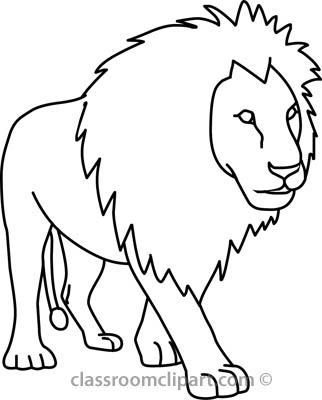 Lion Clipart Black And White-lion clipart black and white-5