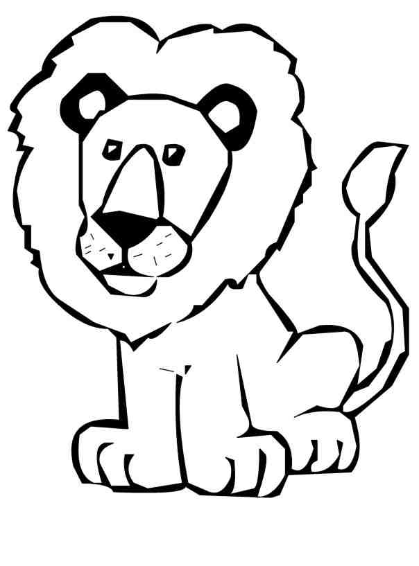 Lion Clipart Black And White-lion clipart black and white-6