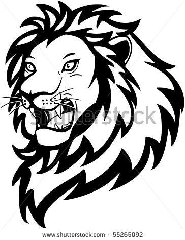 lion roaring clipart
