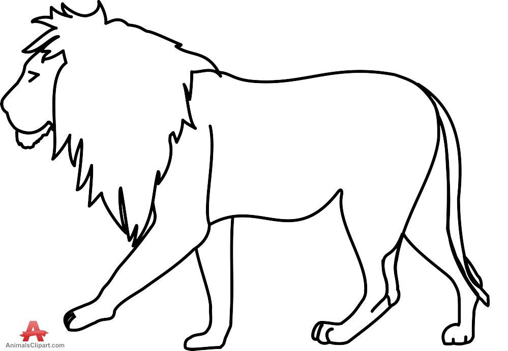 Lion Black And White Outline Lion Clipar-Lion black and white outline lion clipart drawing free design download-11