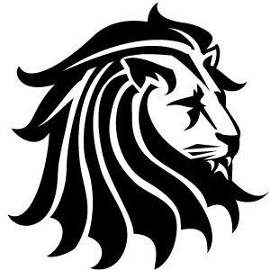 Lion Black Vector Clip Art Freevectors Net