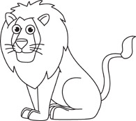 Lion Clip Art Black And White-Lion Clip Art Black and White-15