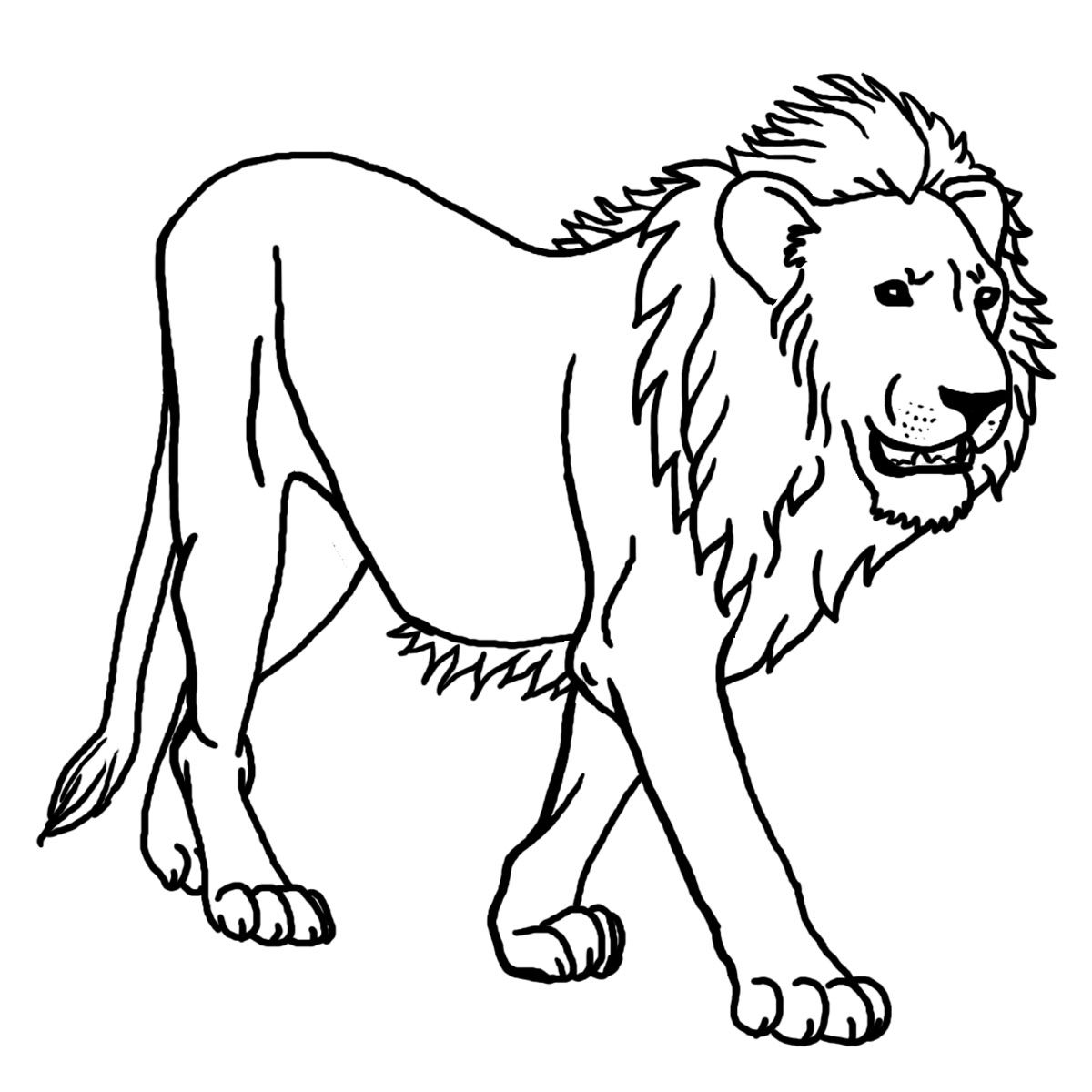 Lion Clipart Black And White-Lion Clipart Black and White-13