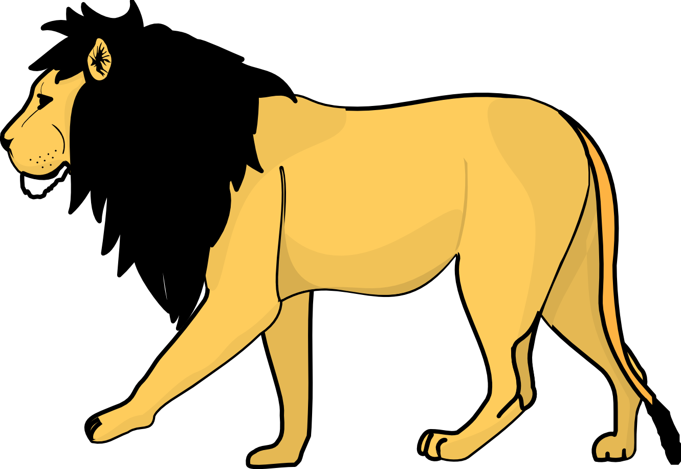 Lion clipart Lion animals clip art black and white