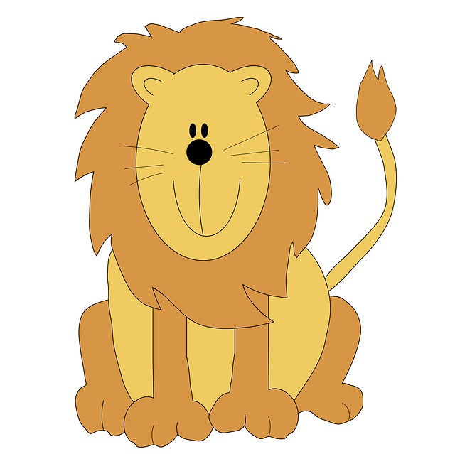 Lion Cute Cartoon Clip Art Illustration