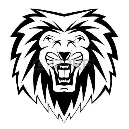 lion face: lion face