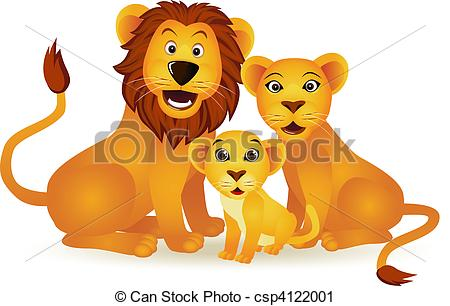Lion family Clipartby ...