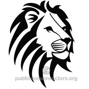 lion head clipart