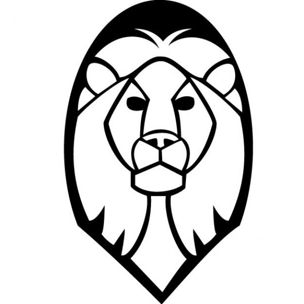 Lion head vector clip art Free Vector