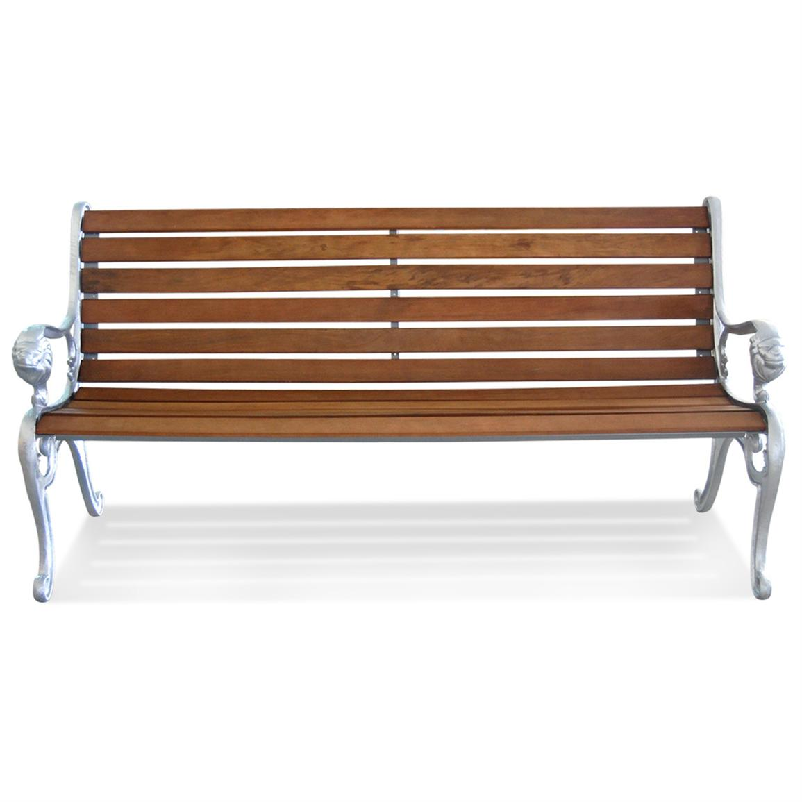 Lion Park Bench-Aluminium Ends-Lion Park Bench-Aluminium Ends-7