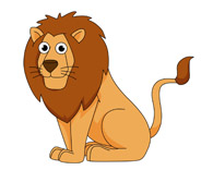 lion sitting cartoon clipart