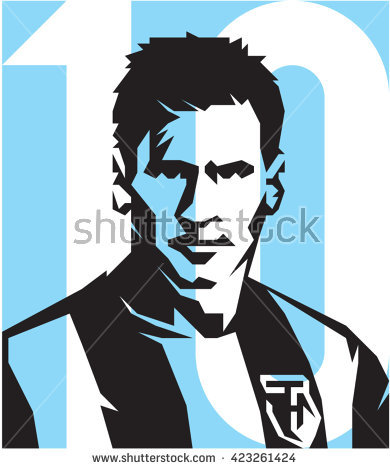 May 20, 2016: Footballer Lionel Messi ARGENTINA vector isolated portrait  stylized illustration