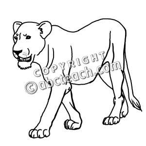 Lioness Clipart-Lioness Clipart-7