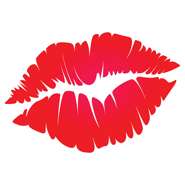 red kiss vector art illustrat - Lips Clipart