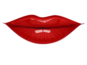 Vector illustration of sensual woman lips
