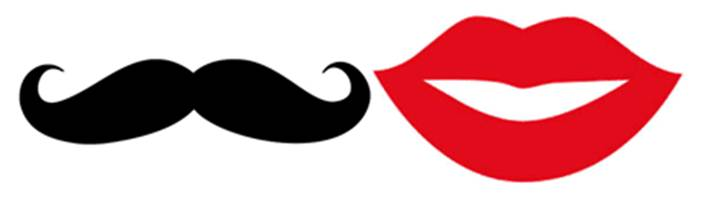 Lips Mustache Template Clipar - Red Lips Clip Art
