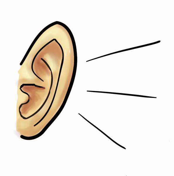Listening ear clipart