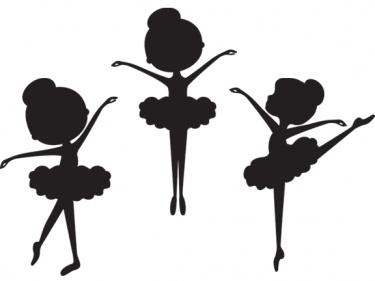 Little Ballerina Silhouette .